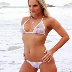 Bikini Fishnet weiss gross