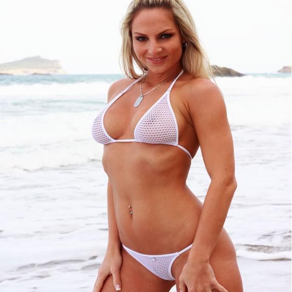 Bikini Fishnet weiss - gross